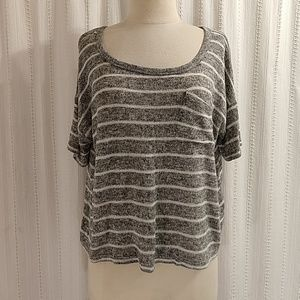 Mossimo grey striped knit sweater top